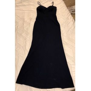 Vera Wang Corset Navy Gown w/ Removable Straps